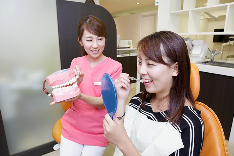 担当の歯科衛生士が責任をもってケアを行います
